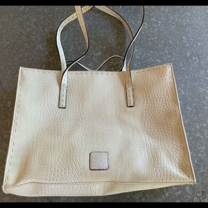Liz Claiborne Work Tote Bag! White!